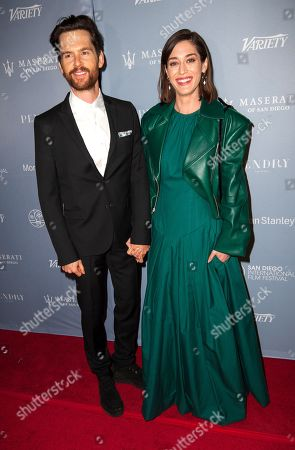 Stock Picture of Lizzy Caplan and Tom Riley