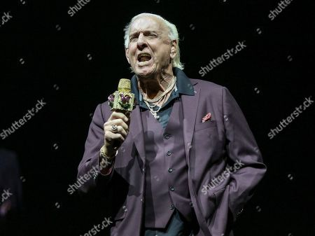 Ric Flair performs during the Runaway Tour at State Farm Arena, in Atlanta