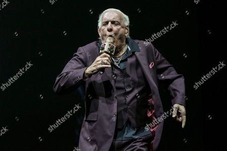 Stock Image of Ric Flair performs during the Runaway Tour at State Farm Arena, in Atlanta