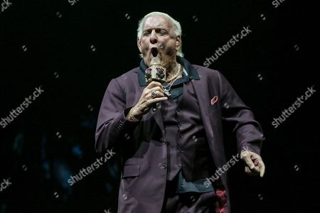 Stock Picture of Ric Flair performs during the Runaway Tour at State Farm Arena, in Atlanta