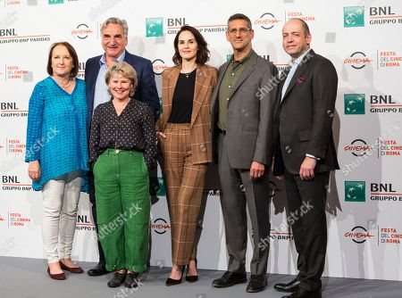 Liz Trubridge (producer), Jim Carter, Imelda Staunton, Michelle Dockery, director Michael Engler and Gareth Neame (producer)
