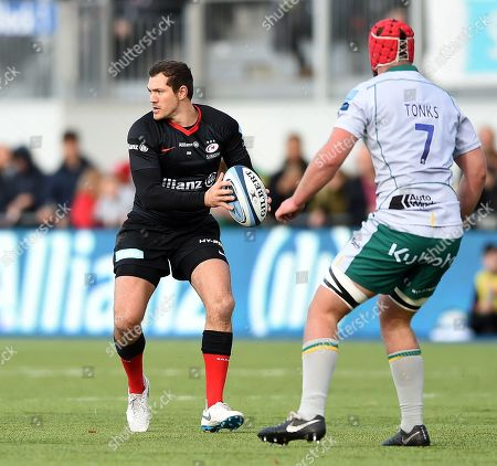 Stock Picture of Alex Goode of Saracens in possession