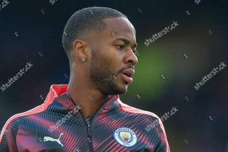Manchester City midfielder Raheem Sterling (7) warming up before the Premier League match between Crystal Palace and Manchester City at Selhurst Park, London