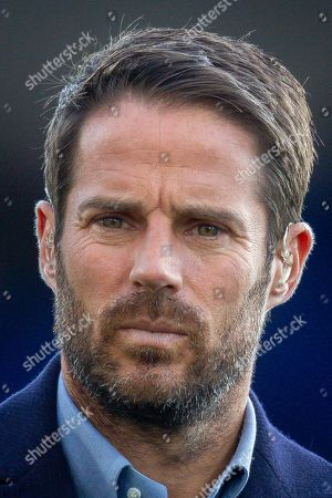 Sky Sports pundit Jamie Redknapp before the Premier League match between Crystal Palace and Manchester City at Selhurst Park, London