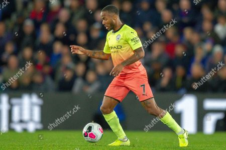 Manchester City midfielder Raheem Sterling (7) during the Premier League match between Crystal Palace and Manchester City at Selhurst Park, London