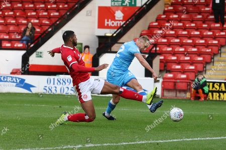 - Luke Varney scores CTFC's 2nd goal of the game  during the EFL Sky Bet League 2 match between Walsall and Cheltenham Town at the Banks's Stadium, Walsall
