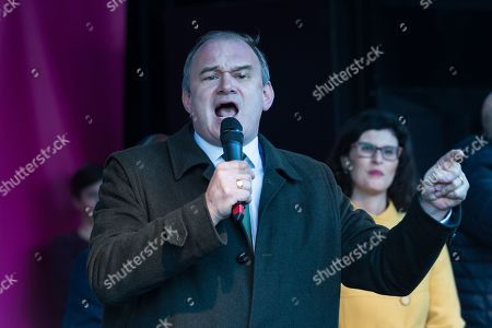 Deputy Leader of the Liberal Democrats Ed Davey speaks during a rally in Parliament Square as hundreds of thousands of people take part in the anti Brexit 'Together for the Final Say' march through central London to demand a public vote on the outcome of Brexit.