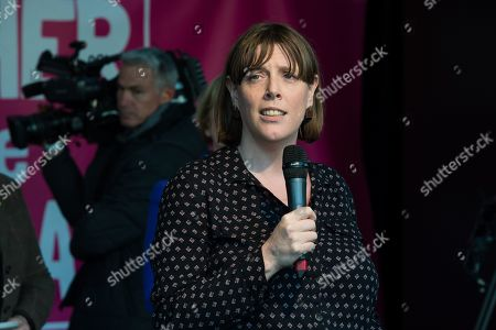 Stock Photo of Labour MP Jess Phillips speaks during a rally in Parliament Square as hundreds of thousands of people take part in the anti Brexit 'Together for the Final Say' march through central London to demand a public vote on the outcome of Brexit.