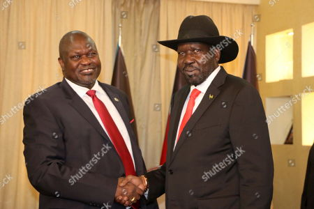 Editorial image of Former rebel leader Riek Machar back to Juba, South Sudan - 19 Oct 2019