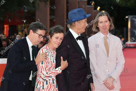 Bill Murray, Antonio Monda, Frances McDormand, Wes Anderson and Edward Norton