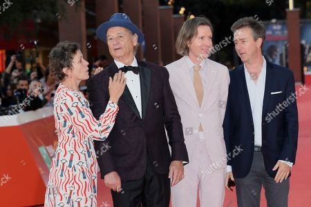 Bill Murray, Frances McDormand, Wes Anderson and Edward Norton