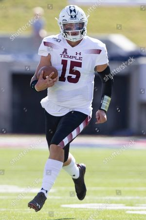 Temple quarterback Anthony Russo (15) runs with the ball during the first quarter of an NCAA college football game against SMU in Dallas
