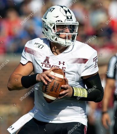 Temple quarterback Anthony Russo (15) prepares to throw the ball during the second quarter of an NCAA college football game against SMU in Dallas