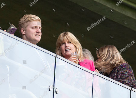 Rachel Johnson watches the first race at the QIPCO Champions day at Ascot Race Course, Berkshire