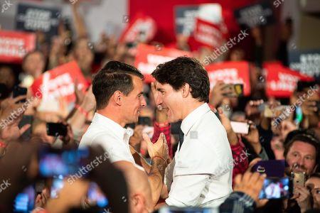 Stock Image of Adam van Koeverden and Justin Trudeau