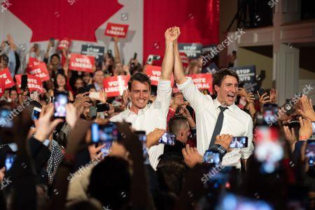 Stock Picture of Adam van Koeverden and Justin Trudeau