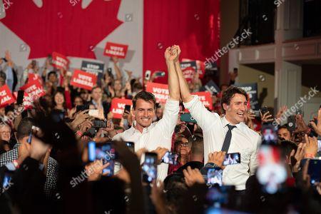 Editorial photo of Halton Rally, Canadian Election Campaigning, Milton, Canada - 19 Oct 2019