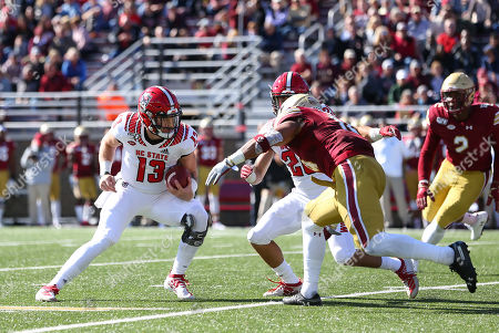 Editorial photo of NCAA Football NC State vs Boston College, Chestnut Hill, USA - 19 Oct 2019