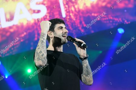 Melendi performs during the concert 'For Them' in Madrid, Spain, 19 October 2019. The concert, organized by radio station 'Cadena 100', is held to collect money for the Spanish Association Against Cancer on occasion of the Breast Cancer Awareness Day.