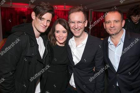 Stock Image of Matt Smith, Claire Foy, Duncan Macmillan, author, and Matthew Warchus, director