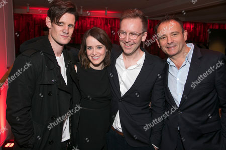 Matt Smith, Claire Foy, Duncan Macmillan, author, and Matthew Warchus, director