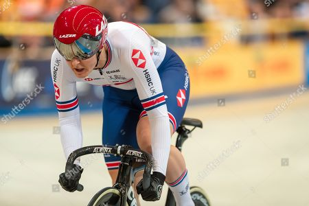 Katy Marchant of Great Britain during the Women's Keirin repechage.