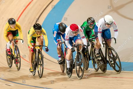 Sophie Capewell and Katy Marchant of Great Britain during the Women's Keirin 7-12th final.