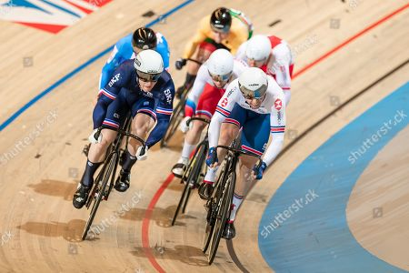 Jason Kenny of Great Britain during the Men's Keirin first round.