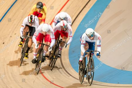 Jason Kenny of Great Britain during the Men's Keirin 7-12th final.