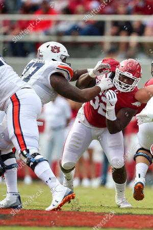Editorial picture of NCAA Football Auburn vs Arkansas, Fayetteville, USA - 19 Oct 2019
