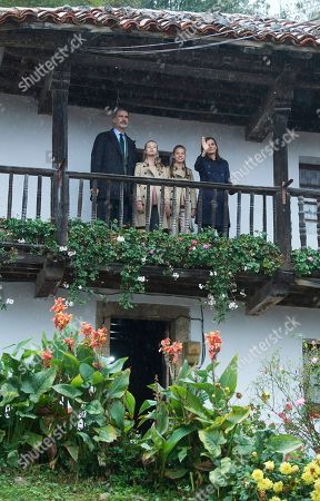 Stock Photo of King Felipe VI, Queen Letizia, Crown Princess Leonor and Infanta Sofia