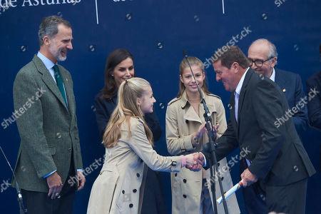 King Felipe VI, Queen Letizia, Crown Princess Leonor and Infanta Sofia