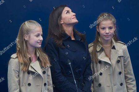 Queen Letizia, Crown Princess Leonor and Infanta Sofia