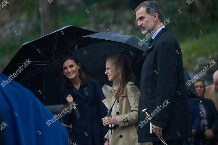 King Felipe VI, Queen Letizia and Crown Princess Leonor