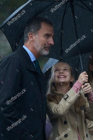 King Felipe VI and Crown Princess Leonor