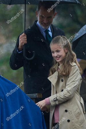 King Felipe VI, Crown Princess Leonor and Infanta Sofia