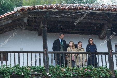 Stock Image of King Felipe VI, Queen Letizia, Crown Princess Leonor and Infanta Sofia