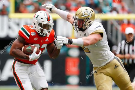 Editorial image of Georgia Tech Miami Football, Miami Gardens, USA - 19 Oct 2019