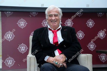 Jean-Paul Belmondo guest star at the Golden Gloves (Gants d'Or) boxing award ceremony in Brussels