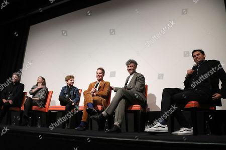 Carthew Neal (Producer), Thomasin McKenzie, Roman Griffin Davis, Sam Rockwell, Taika Waititi (Director) and Rajendra Roy