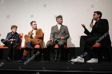 Roman Griffin Davis, Sam Rockwell, Taika Waititi (Director) and Rajendra Roy