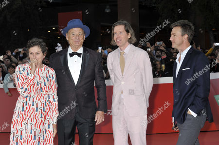 Bill Murray, Frances McDormand, Wes Anderson and Edward Norton