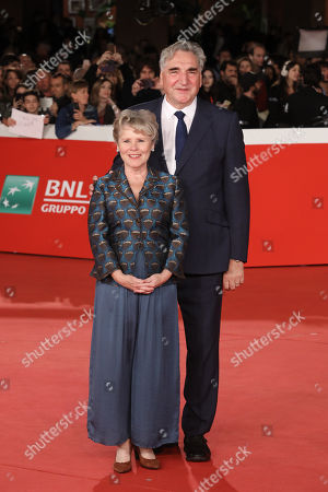 Stock Picture of Jim Carter and Imelda Staunton