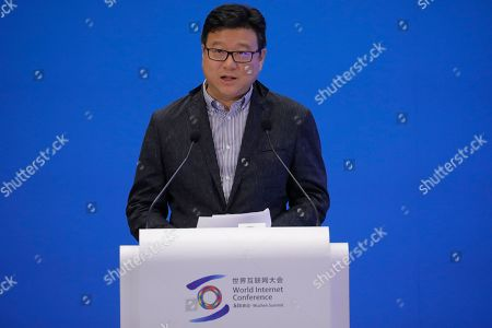 Ding Lei, founder and CEO of NetEase, delivers a speech during a business leader's dialogue at the 6th World Internet Conference, also known as Wuzhen Summit, in Wuzhen, China, 20 October 2019. The summit runs from 20 October through to 22 October 2019.