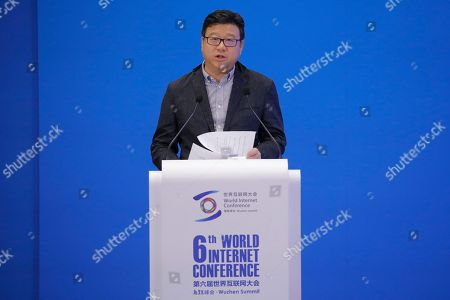Stock Picture of Ding Lei, founder and CEO of NetEase, delivers a speech during a business leader's dialogue at the 6th World Internet Conference, also known as Wuzhen Summit, in Wuzhen, China, 20 October 2019. The summit runs from 20 October through to 22 October 2019.
