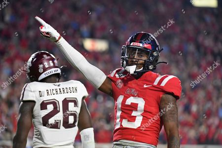 Snoop Conner, Brian Williams. Mississippi running back Snoop Conner (24) stiff arms Texas A&M defensive back Brian Williams (25) during the second half of an NCAA college football game in Oxford, Miss., . Texas A&M won 24-17