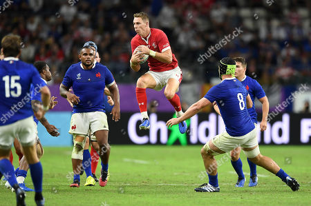 Liam Williams of Wales gets the high ball.