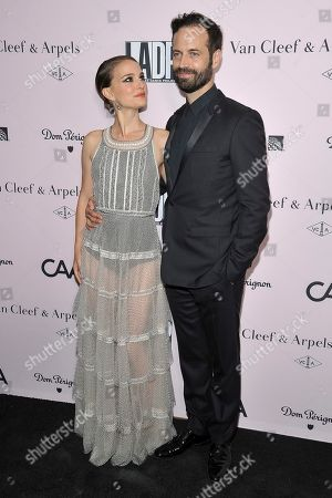 Natalie Portman, Lawrence Bender. Natalie Portman, left, and Lawrence Bender attend the 2019 L.A. Dance Project Annual Gala at Hauser & Wirth, in Los Angeles