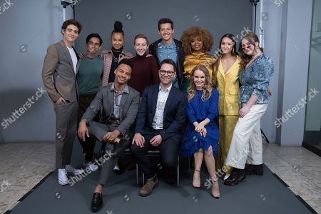 "Stock Image of Joshua Bassett, Frankie A. Rodriguez, Mark St. Cyr, Sofie Wylie, Larry Saperstein, Matt Cornett, Tim Federle, Dara Renne, Kate Reinders, Olivia Rodrigo, and Julia Lester. Joshua Bassett, on left, Frankie A. Rodriguez, Mark St. Cyr, Sofie Wylie, Larry Saperstein, Matt Cornett, Tim Federle, Dara Renne, Kate Reinders, Olivia Rodrigo, and Julia Lester pose at the Disney + launch event promoting ""High School Musical: The Musical: The Series"" at the London West Hollywood hotel on in West Hollywood, Calif"