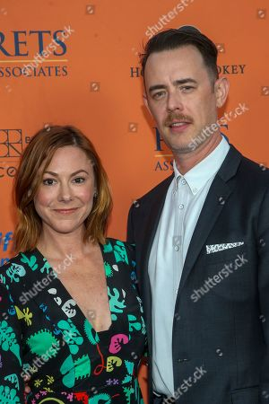 Stock Photo of Samantha Bryant and Colin Hanks